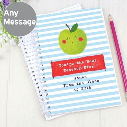 Personalised A5 Notebook - Apple for the Teacher